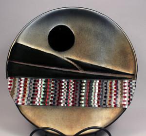 "18"" Shallow Iridized Bronze Bowl"