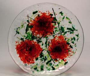"9""  Mosaic Poppy Bowl"
