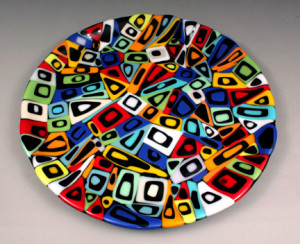 "12 ""  Stacked Mosaic Platter"