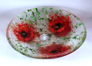 Cast Glass Poppy Sink $795