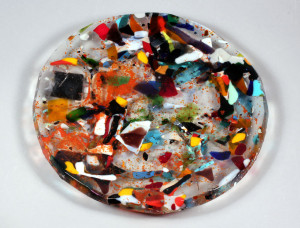 Mardi Gras Cast Glass Sink Sample