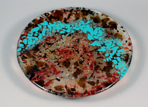 Turquois River Cast Glass Sink Sample