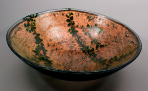 Dichroic Copper Glass Sink w/ Leaf Design  $895