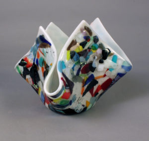 "7"" Fused and Drapped Vessel"